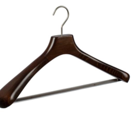 Как выбрать деревянные вешалки для костюмов
